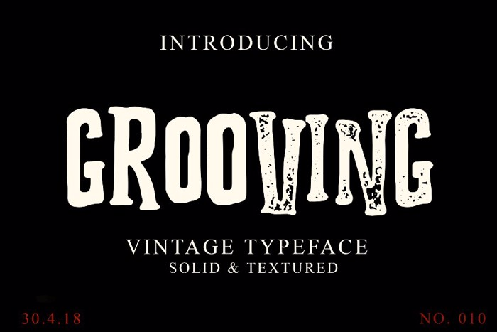 Grooving Font poster