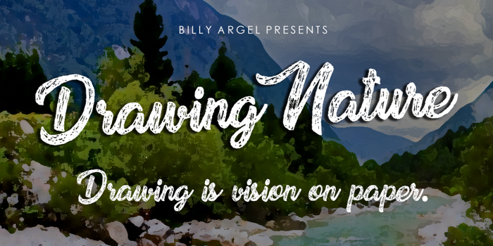 Drawing Nature Font poster