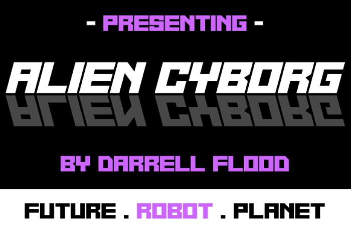 Alien Cyborg Font poster