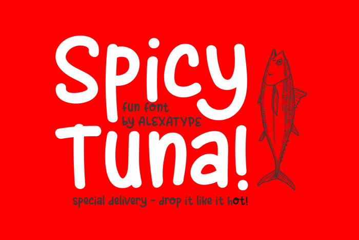 Spicy Tuna Font poster
