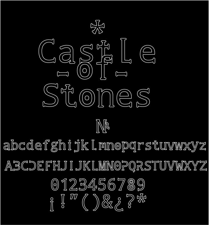 Castle of Stones Font poster
