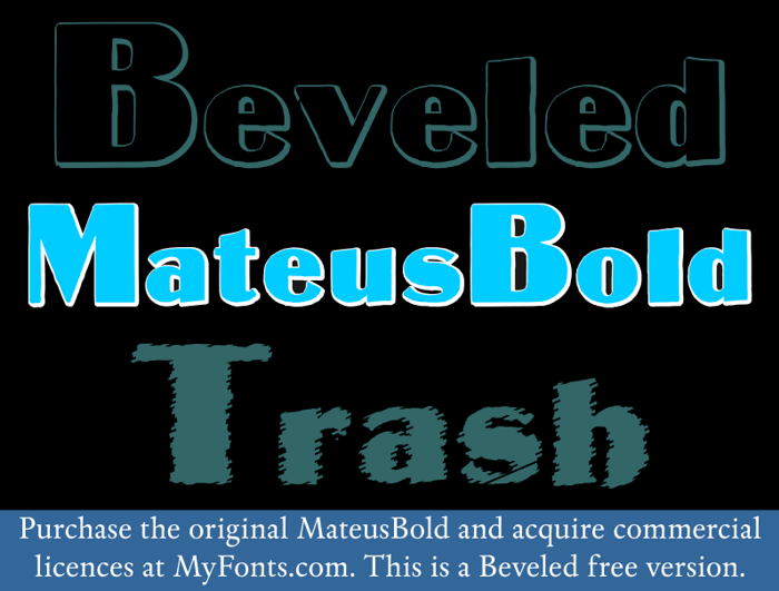 MateusBold Font poster