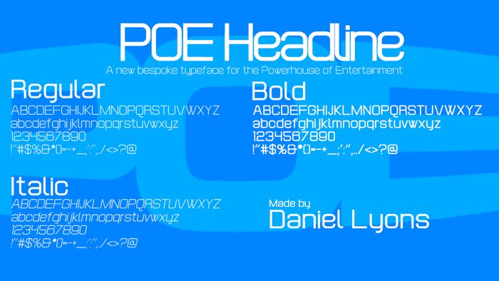 POE Headline Font poster