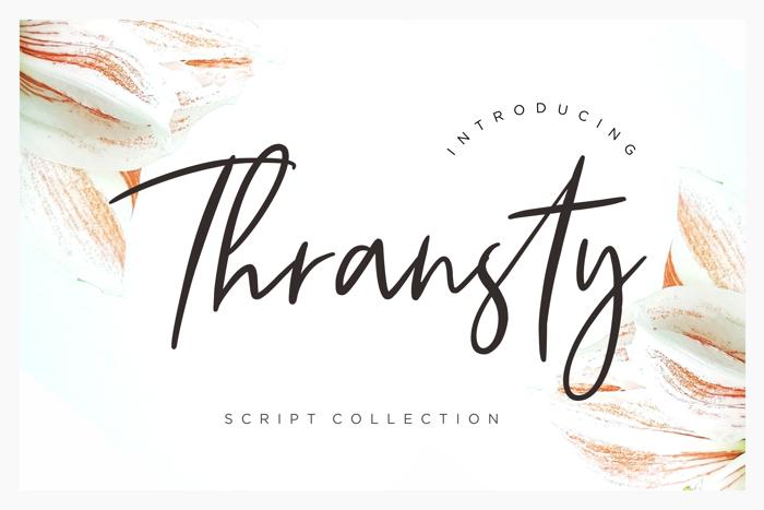 Thransty Handwritten Script Font poster