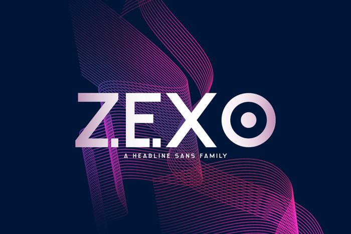 Zexo Font poster