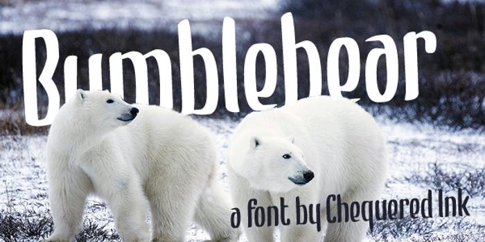 Bumblebear Font poster