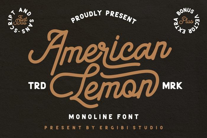 American Lemon Font poster