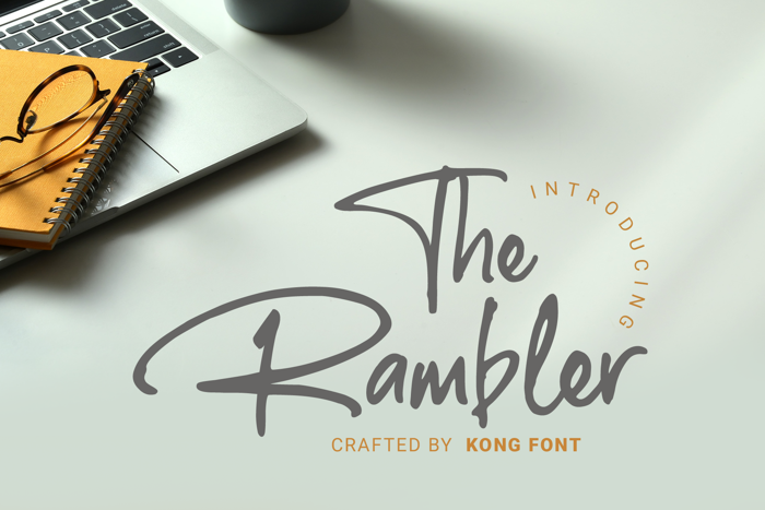The Rambler Font poster
