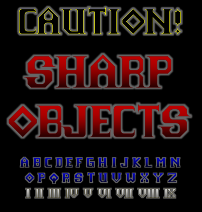Sharp Objects NBP Font poster