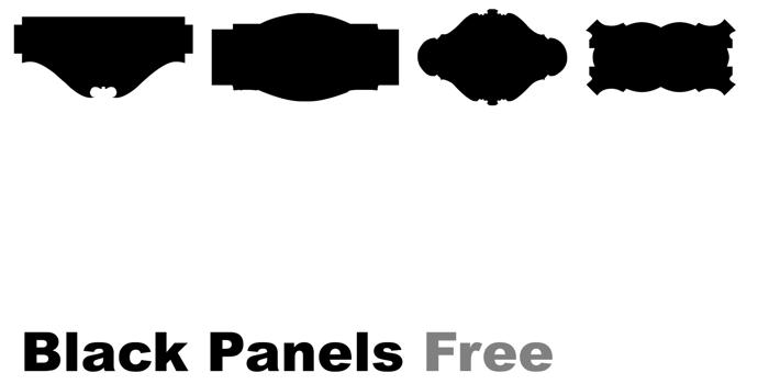 Black Panels Free Font poster