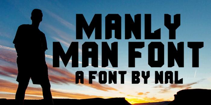Manly Man Font poster