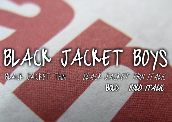 black jacket boys Font poster