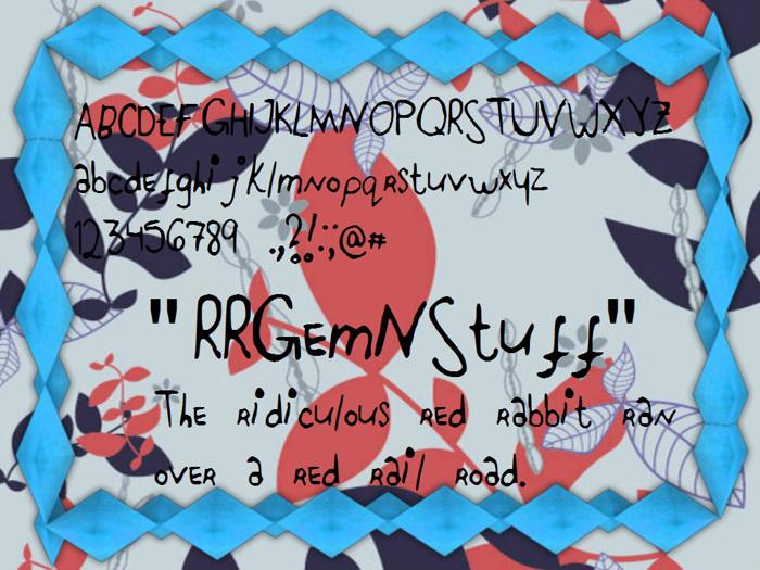 RRGemNStuff Font poster