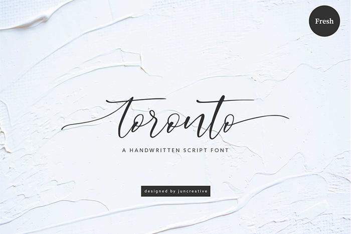 toronto Font poster