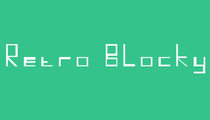 Retro Blocky Font poster