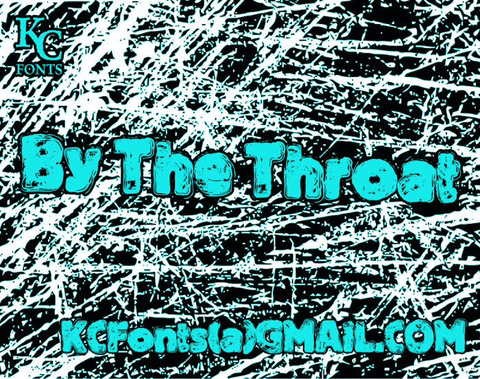 By The Throat Font poster