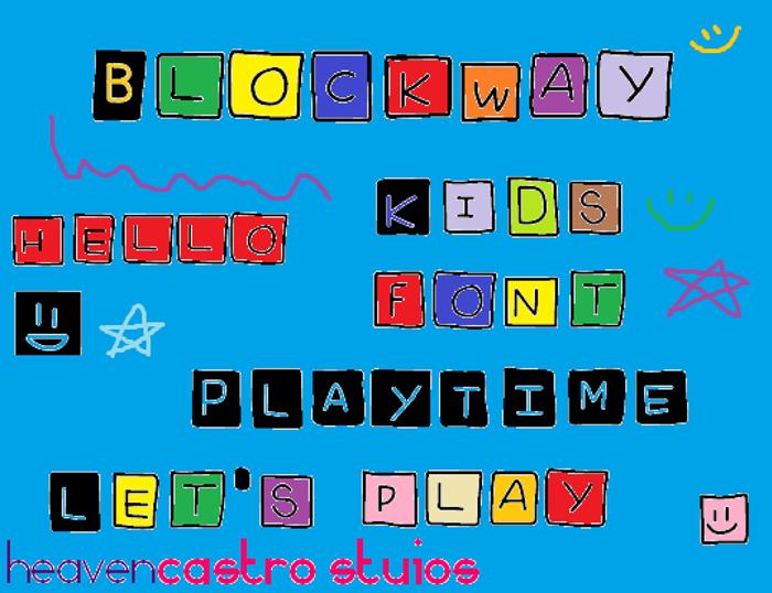 Blockway Font poster