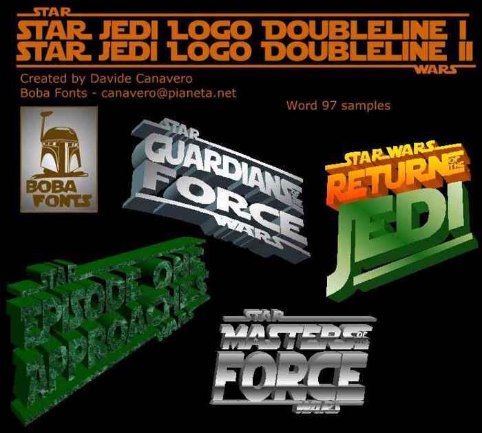 Star Jedi Logo Font poster