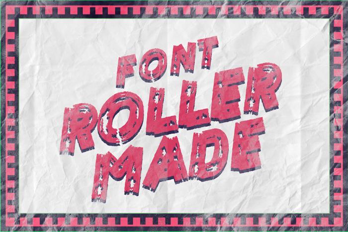 ROLLER MADE Font poster