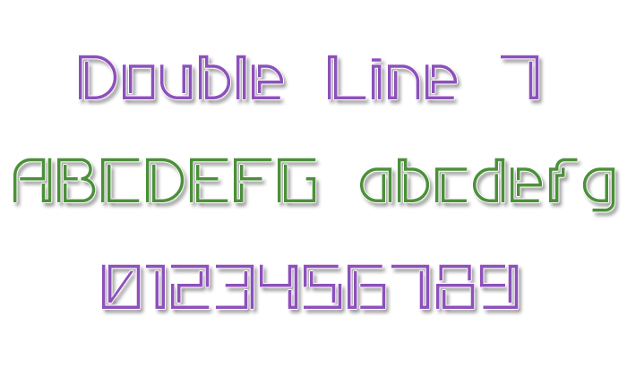 Double Line 7 Font poster