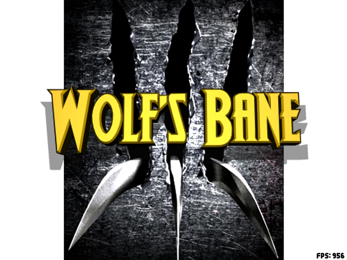 Wolf's Bane II Font poster