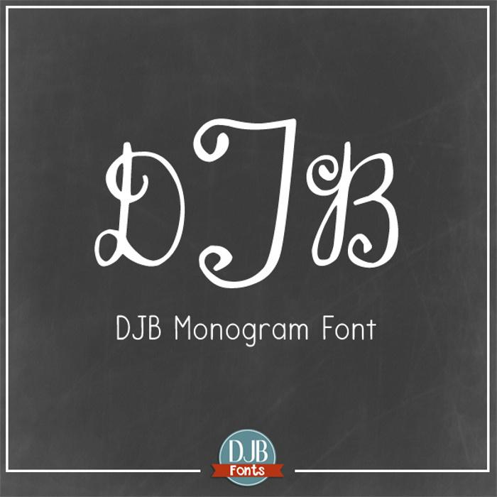 DJB Monogram Font poster