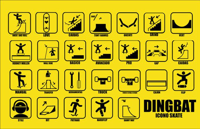 ICONOS SKATE Font poster