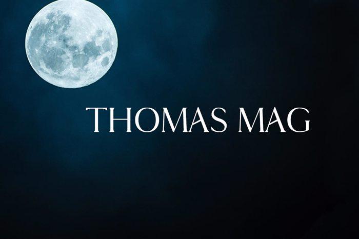 Thomas Mag Font poster