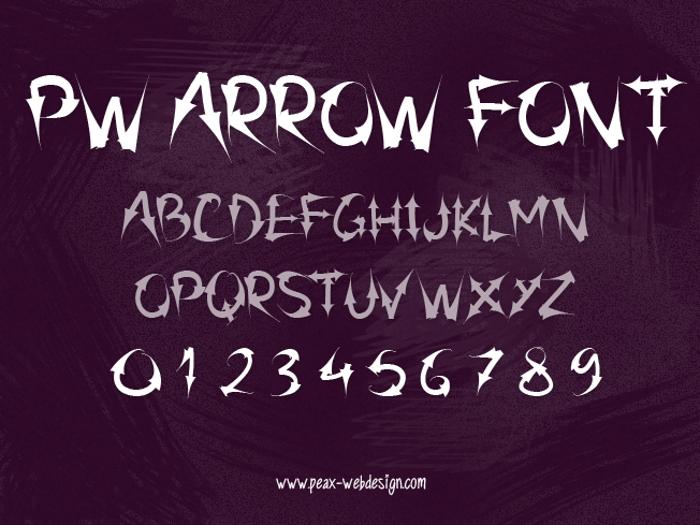 PW Arrow font poster