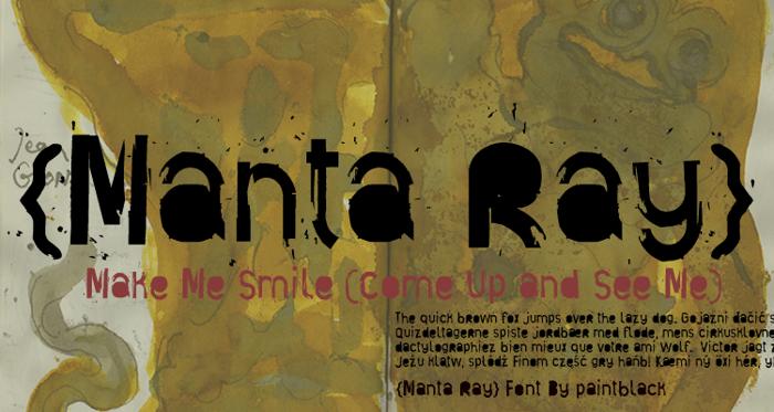 Manta Ray Font poster