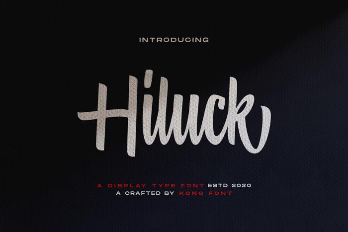 Hiluck Font poster