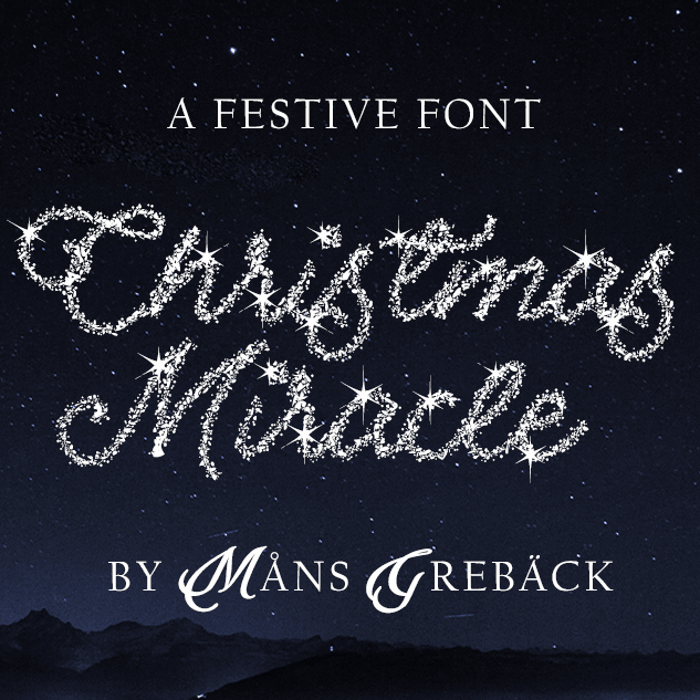 Christmas Miracle Font poster