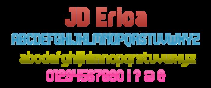 JD Erica Font poster