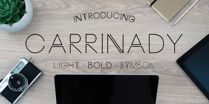 Carrinady Font poster