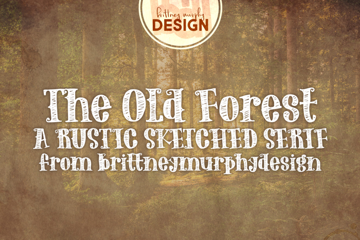The Old Forest Font poster