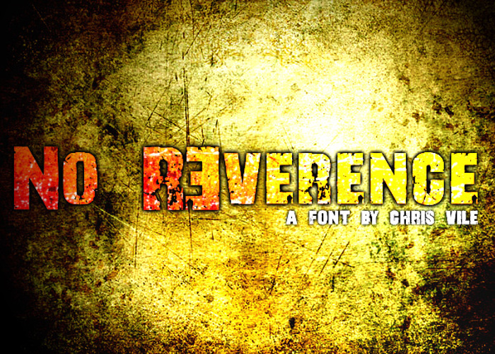 No R3verence Font poster