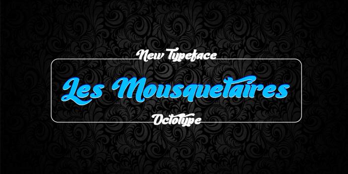 Les Mousquetaires Font poster