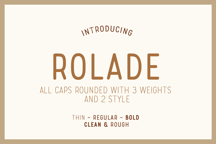 Rolade Free Font poster