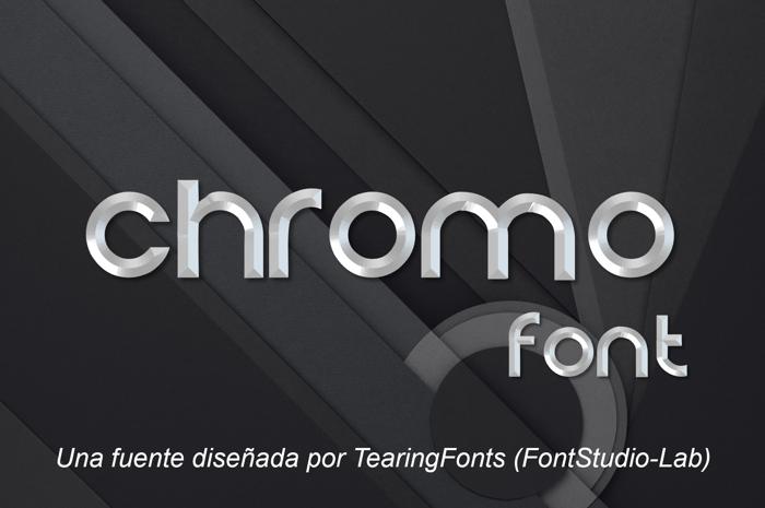 Chromo Font poster