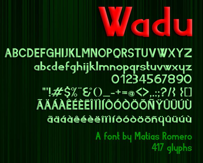 Wadu  Font poster