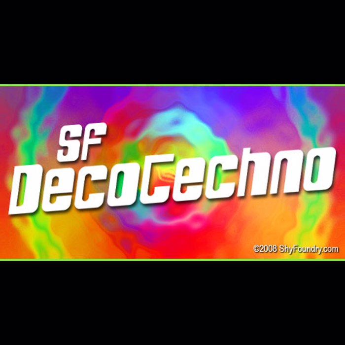 SF DecoTechno Font poster