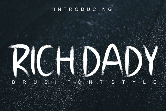 RICH DADY Font poster