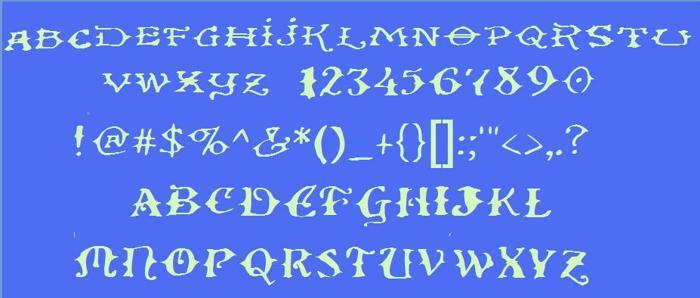 Ol' Wes' Rustik Font poster