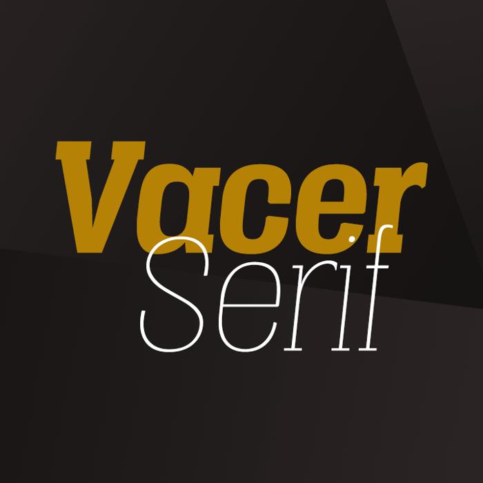 Vacer Serif Font poster