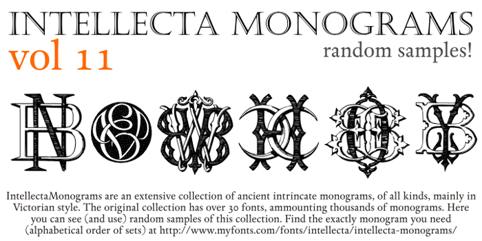 Intellecta Monograms Random Eleven Font poster