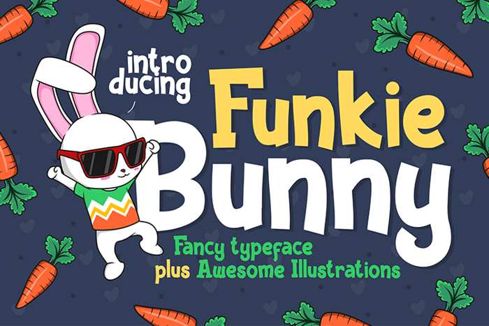 Funky Bunny Font poster