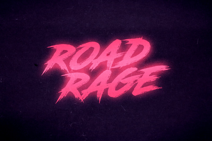 Road Rage Font poster