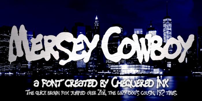 Mersey Cowboy Font poster