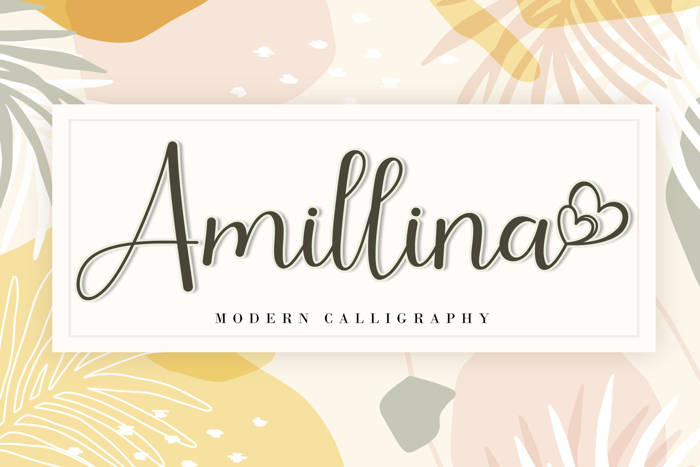 Amillina Font poster
