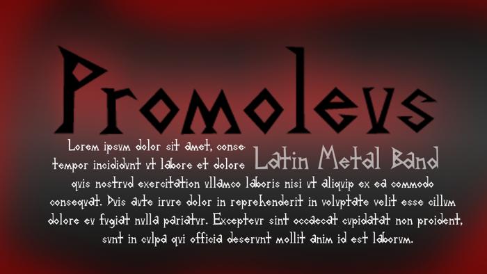 Promoleus Font poster